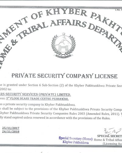 KPK OPERATING LICENSE RENEWED FROM 25-11-17 TO 24-11-18